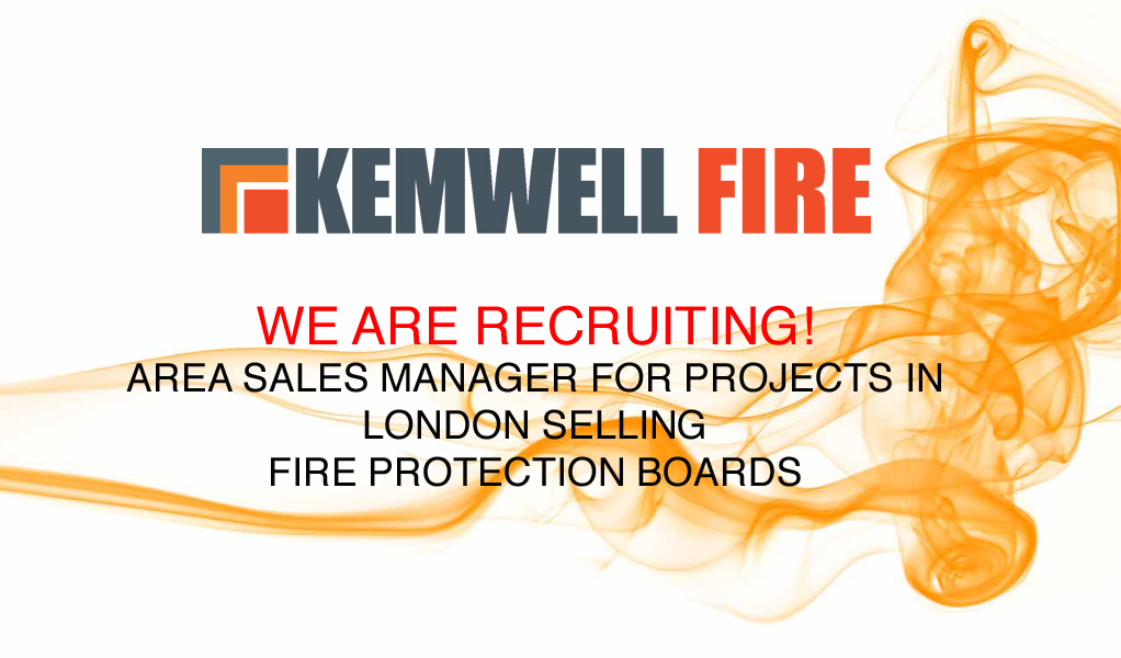 Job vacancy: Area Sales Manager for Fire Protection Boards in London