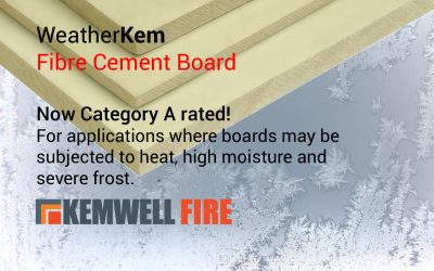 Kemwell WeatherKem board now Category A rated for heat, high moisture and severe frost